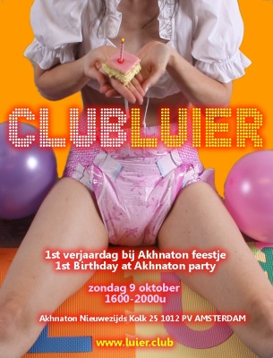 Club Luier Birthday Flyer